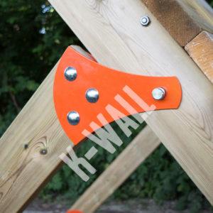Platine de fixation pour l'obstacle K-WALL Pour course à obstacles, course type OCR, parcours d'obstacles indoor de type Ninja Warrior