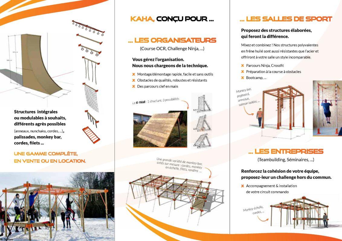 KAHA Spécialiste en création de structures parcours OCR - NINJA Location et vente d'obstacles, accessoires pour salle de sport